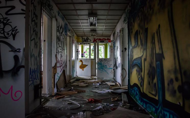 Trashed house