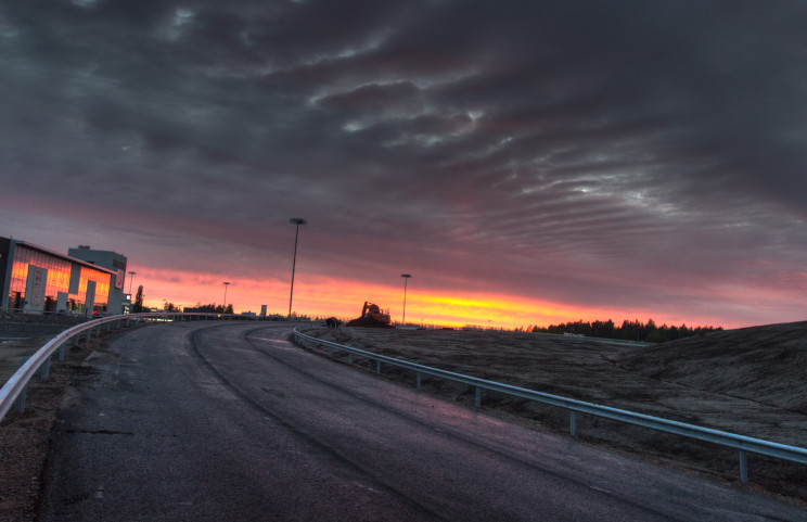 Incomplete Road at Sundown